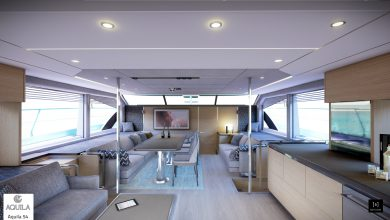 Photo of AQUILA POWER CATAMARANS ANNOUNCE A LUXURIOUSLY VERSATILE NEW MODEL