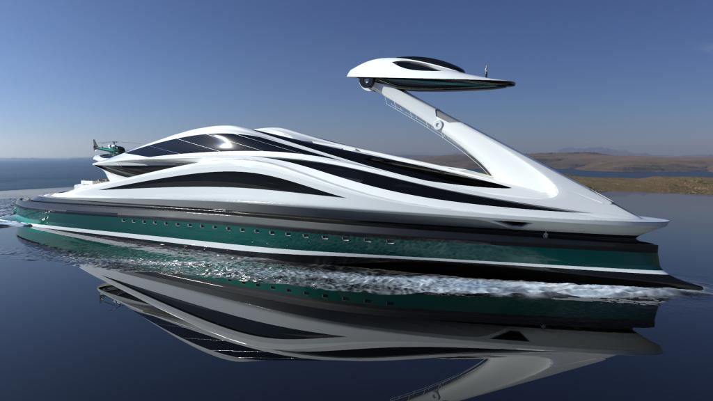 swan shape yacht
